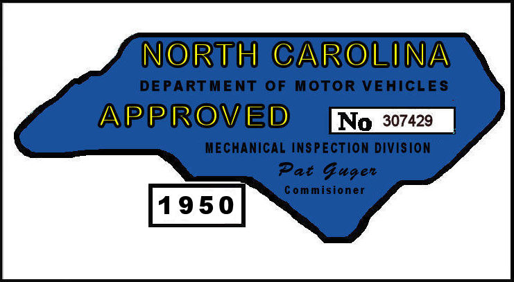 1950 NC Inspection Sticker (Estimate)