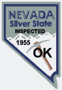 1955 Nevada Inspection sticker