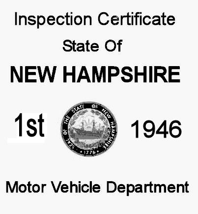 1946 New Hampshire Inspection