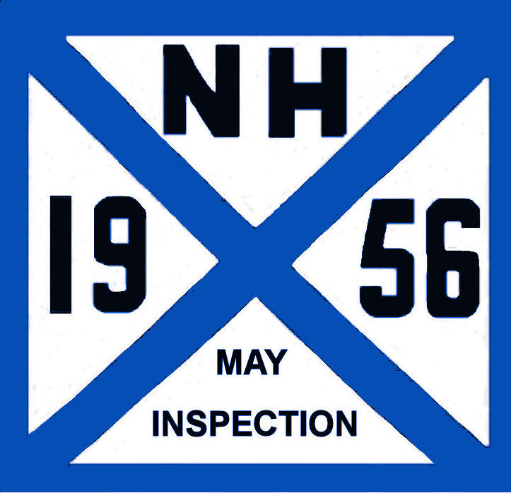 1956 New Hampshire inspection sticker