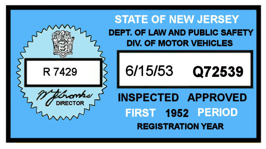 How to get a new inspection sticker in nj kamos sticker for Motor vehicle inspection nj