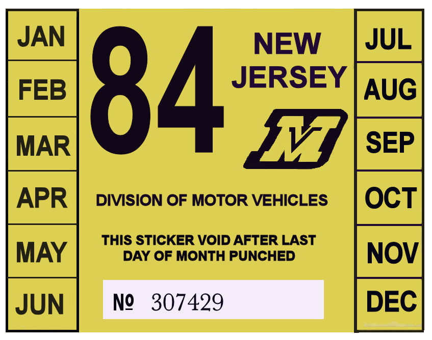 New jersey qq plate requirements pairs and spares for Motor vehicle inspection nj