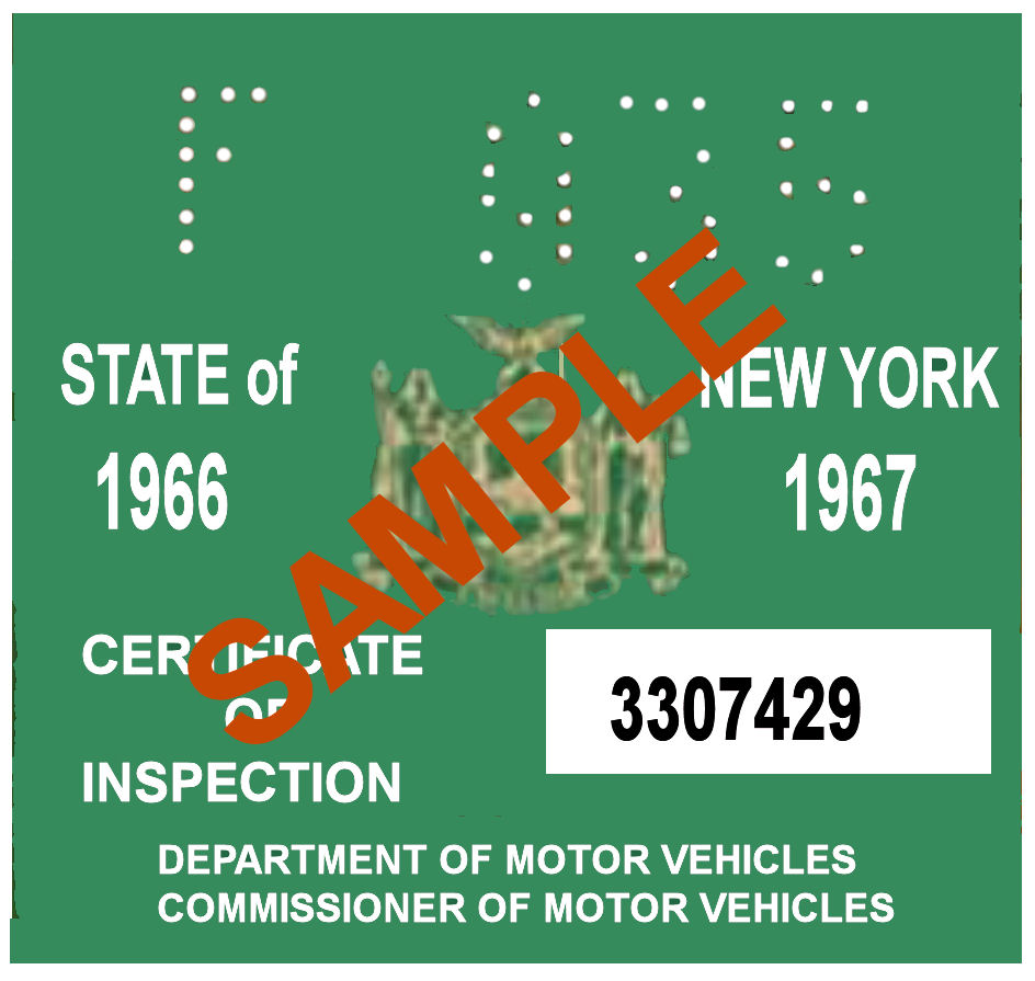 Nys inspection license replacement free software and for Ny motor vehicle inspection