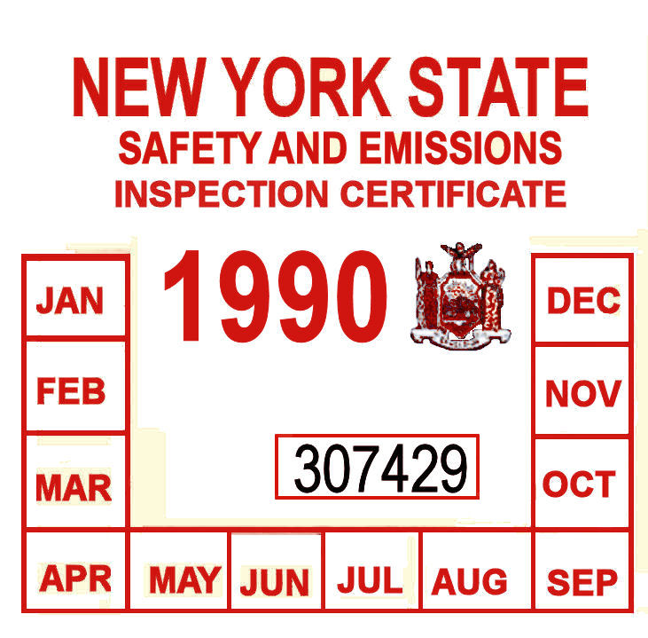 1990 New York Emissions and Inspection