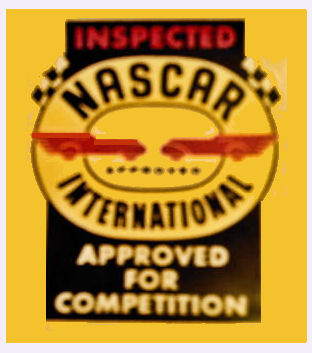 NASCAR Approved for Competition Inspection Sticker