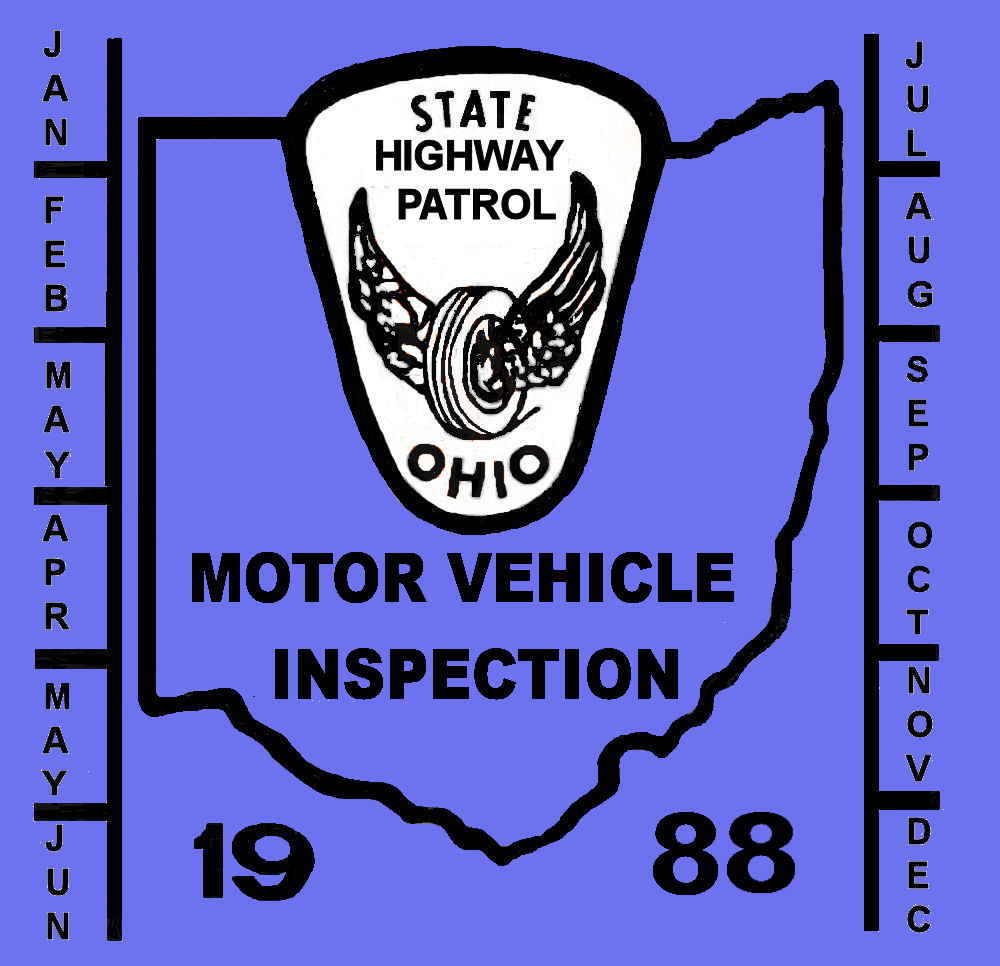 1988 Ohio inspection sticker