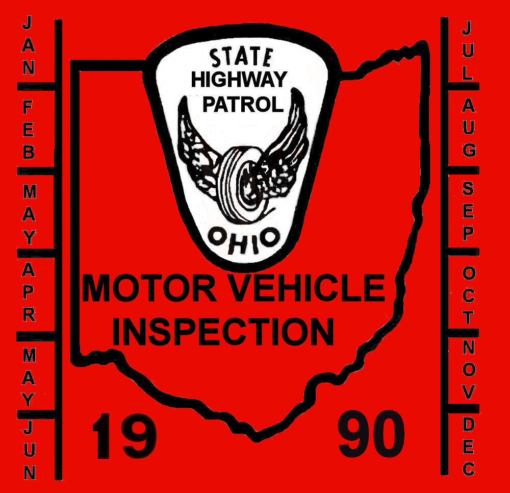 1990 Ohio inspection sticker