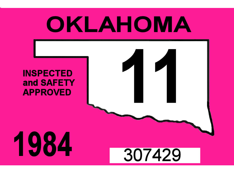 1984 Oklahoma Inspection Sticker