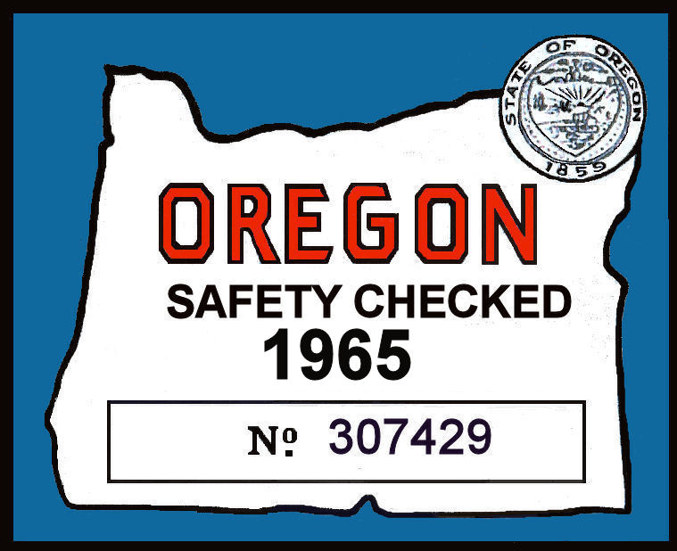 1965 Oregon Safety check sticker