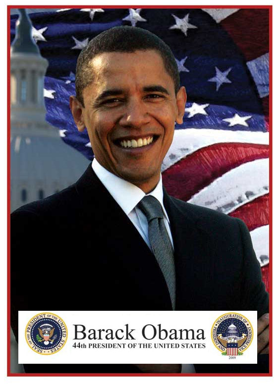 2009 President Barak Obama window Sticker