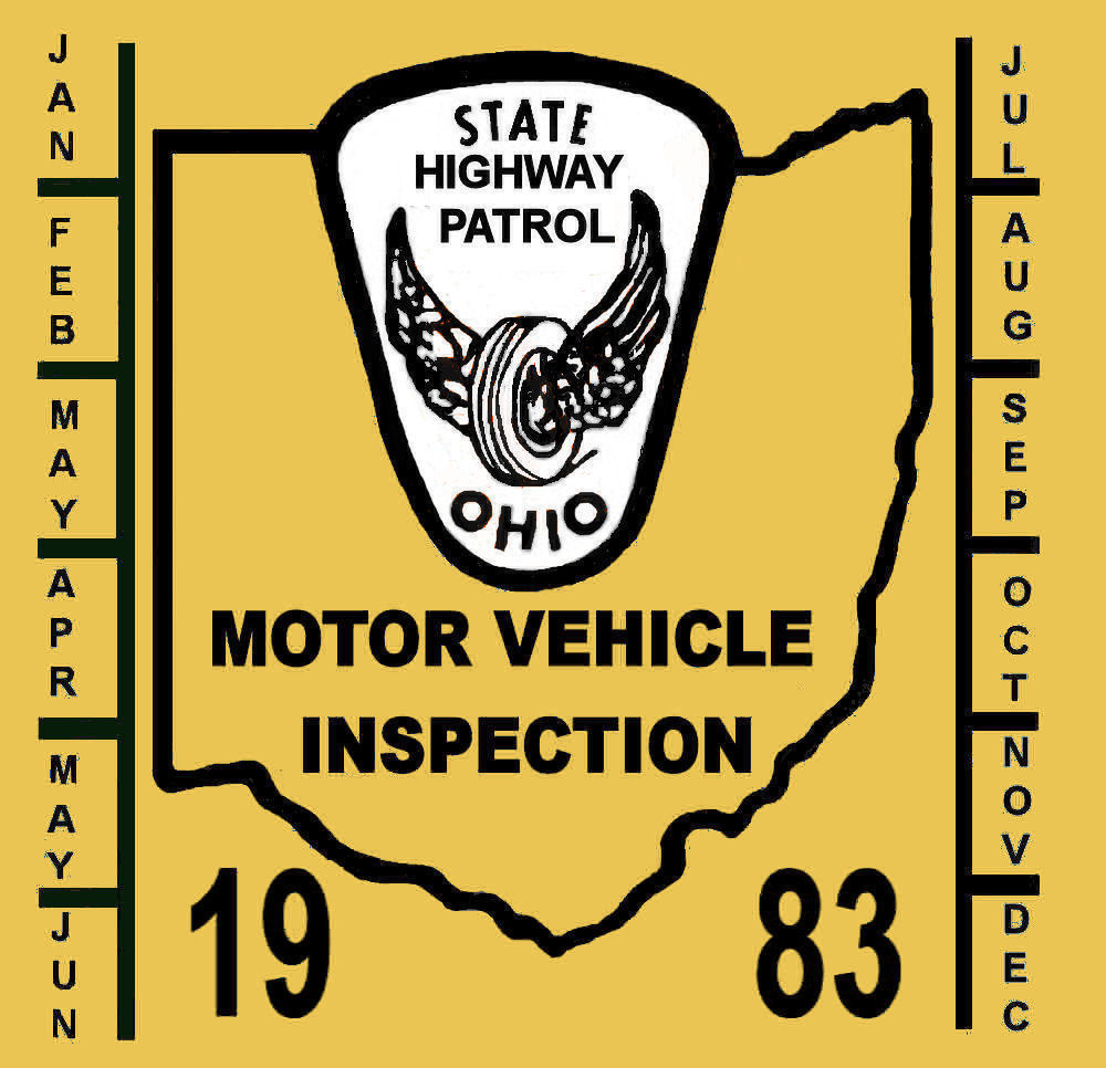 1983 Ohio Inspection sticker
