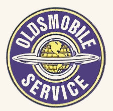 Oldsmobile Service Sticker 1950s 60s