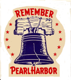 1942 Remember Pearl Harbor WW2 Sticker
