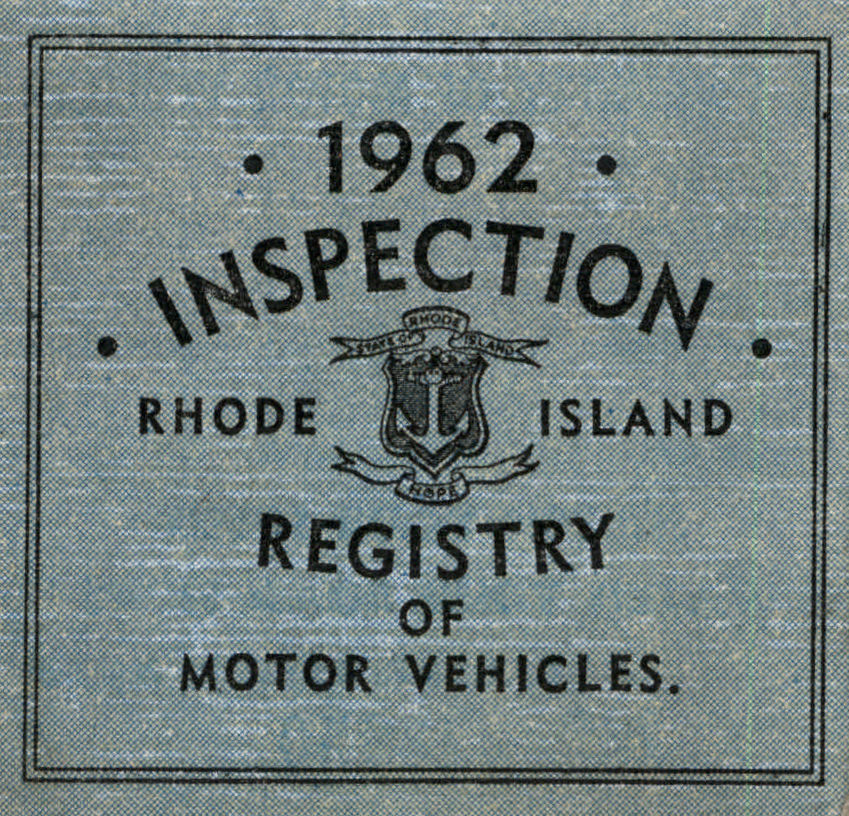 1962 Rhode Island Inspection Sticker - Click Image to Close