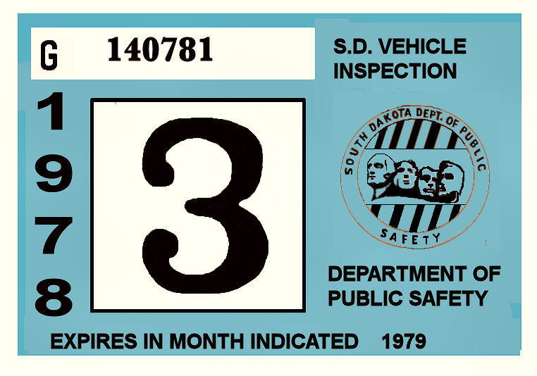 1978-79 South Dakota INSPECTION Sticker