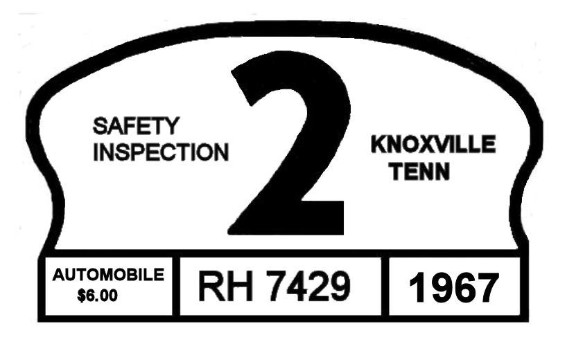 1967 Tennessee inspection sticker (Knoxville)