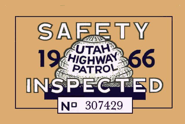 Utah : Bob Hoyts Classic Inspection Stickers, Add a Final Touch to ...