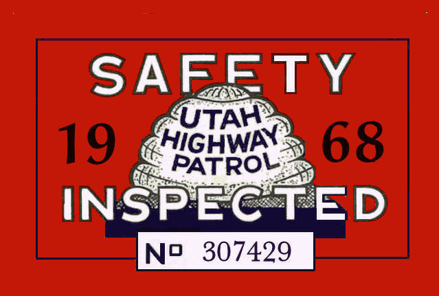 1968 Utah inspection sticker