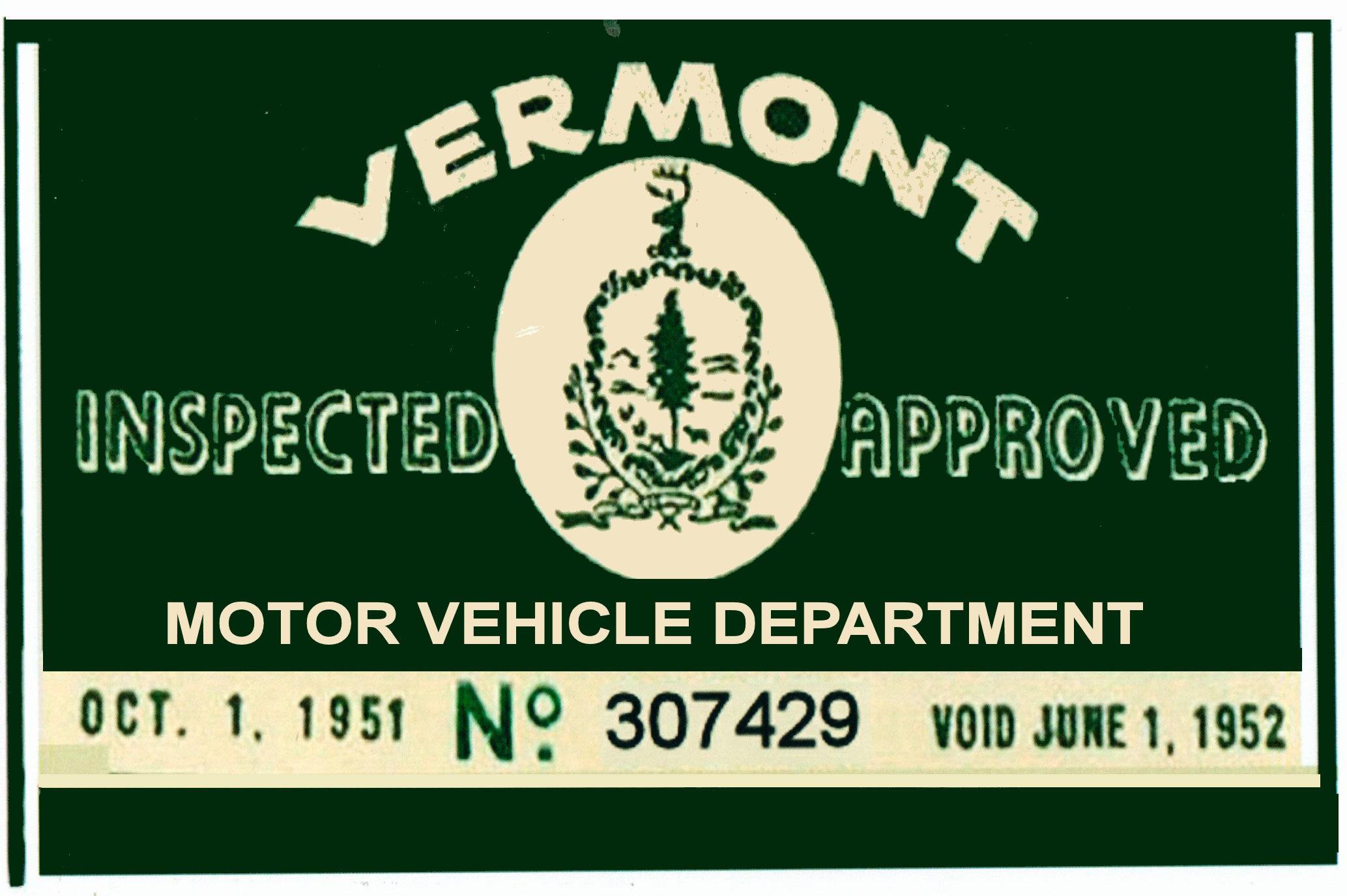 1951 VERMONT Inspection