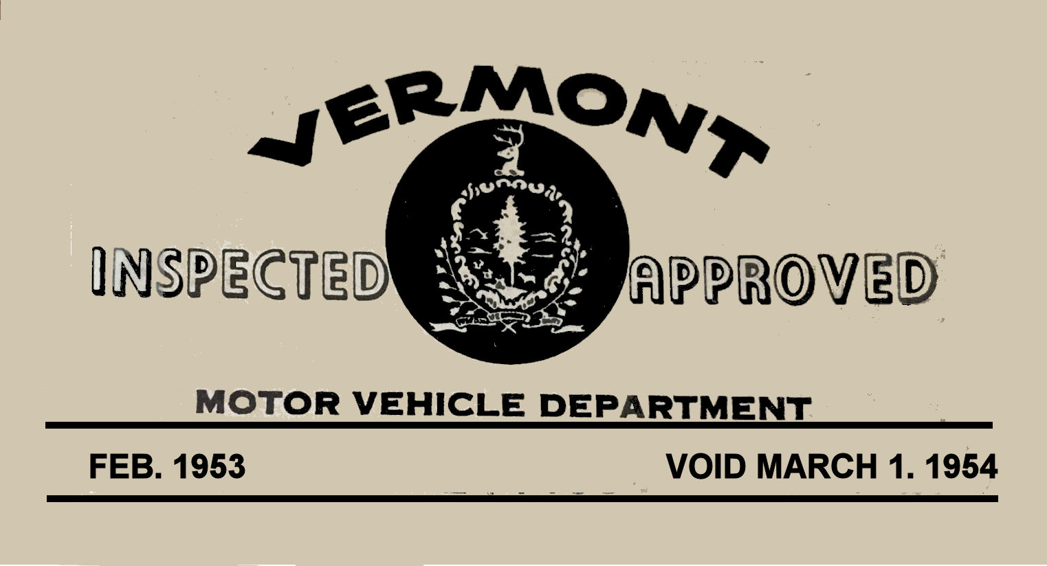 1953-54 Vermont Inspection