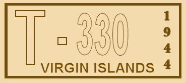 Virgin Islands 1944 Registration Sticker