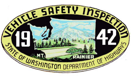 1942 Washington state Inspection sticker.