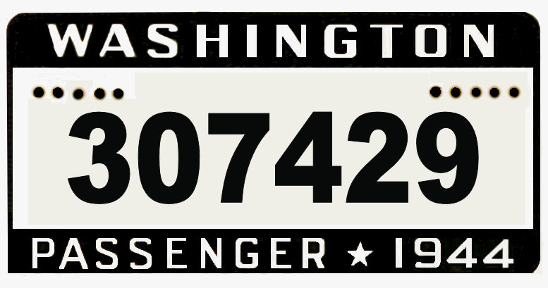 1944 Washington registration/ inspection Sticker