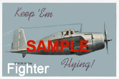 "1942 Keep Em Flying ""WW2 Fighter"" Sticker"