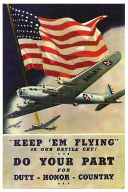 "1942 Keep Em Flying ""Do Your Part"" WW2 Sticker"