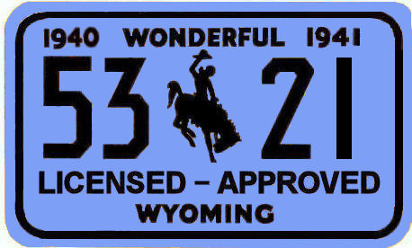 1940-41 Wyoming inspection registration sticker