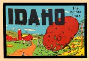 Idaho Vintage Vacation Sticker