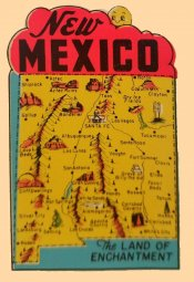 New Mexico Vintage Vacation Sticker