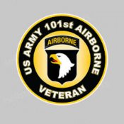 Screaming Eagle 101st Airborne Veterans Patch
