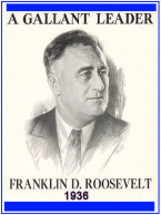 1936 Franklin Roosevelt Sticker