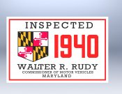 1940 Maryland Inspection