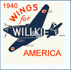 1940 Wilkie Presidential Sticker