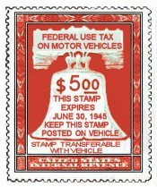 1945 US Federal gas ration STAMP