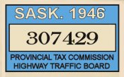 1946 CANADA Saskatchewan plate extension