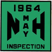 1964 New Hampshire Inspection Sticker