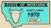1970 Montana Safety Check Inspection sticker