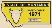 1971 Montana Safety Check Inspection Sticker