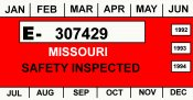 1992-94 Missouri inspection sticker