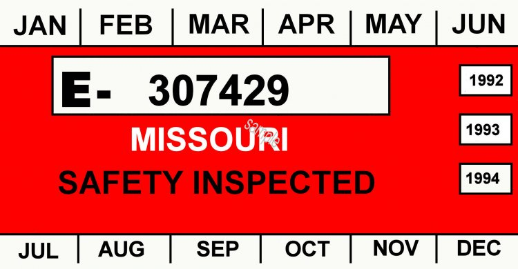1992-94 Missouri inspection sticker - Click Image to Close