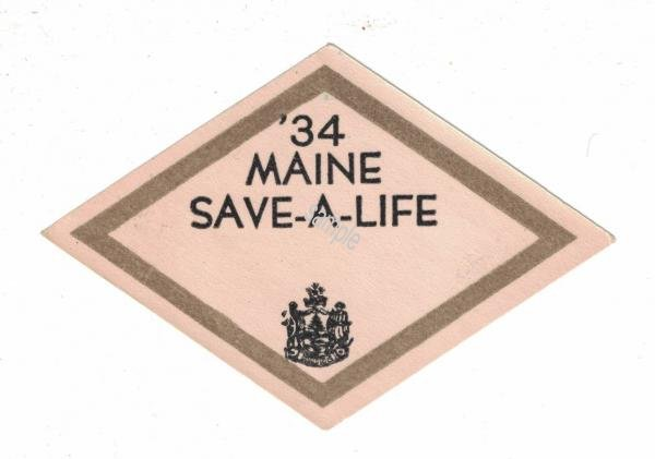 1934 Maine Spring Inspection Sticker - Click Image to Close