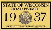 1937 Wisconsin Registration inspection sticker