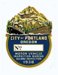 1938 Oregon PORTLAND 2nd