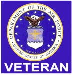 United States Air Force Veteran sticker