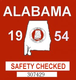 1954 Alabama Safety Checked