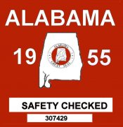 1955 Alabama Safety Checked