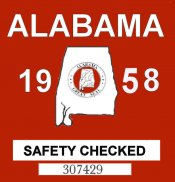 1958 Alabama Safety Check